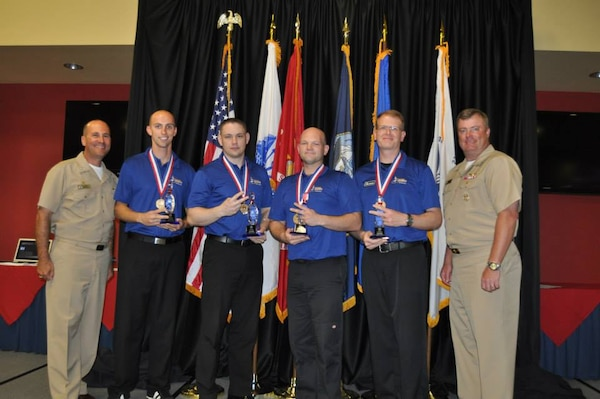 Air Force Men's gold medal team at the 2015 Armed Forces Bowling Championship held at NAS Jacksonville, Fla. from 11-18 May