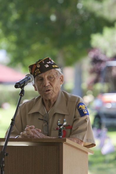 Gaetano Benza, 90-year old World War II veteran, delivers opening