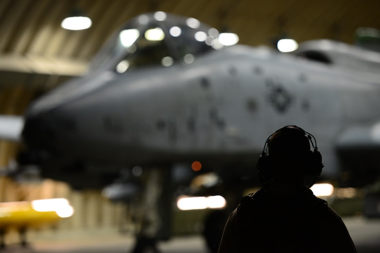 Members of the 25th Fighter Squadron ready A-10 Thunderbolt II's for night operations during the first night of Vigilante Ace 16 held at Osan Air Base, Republic of Korea, Nov. 2, 2015. Vigilant Ace is a peninusla wide operational readiness exercise focused on strengthening the ROK/US alliance. 
