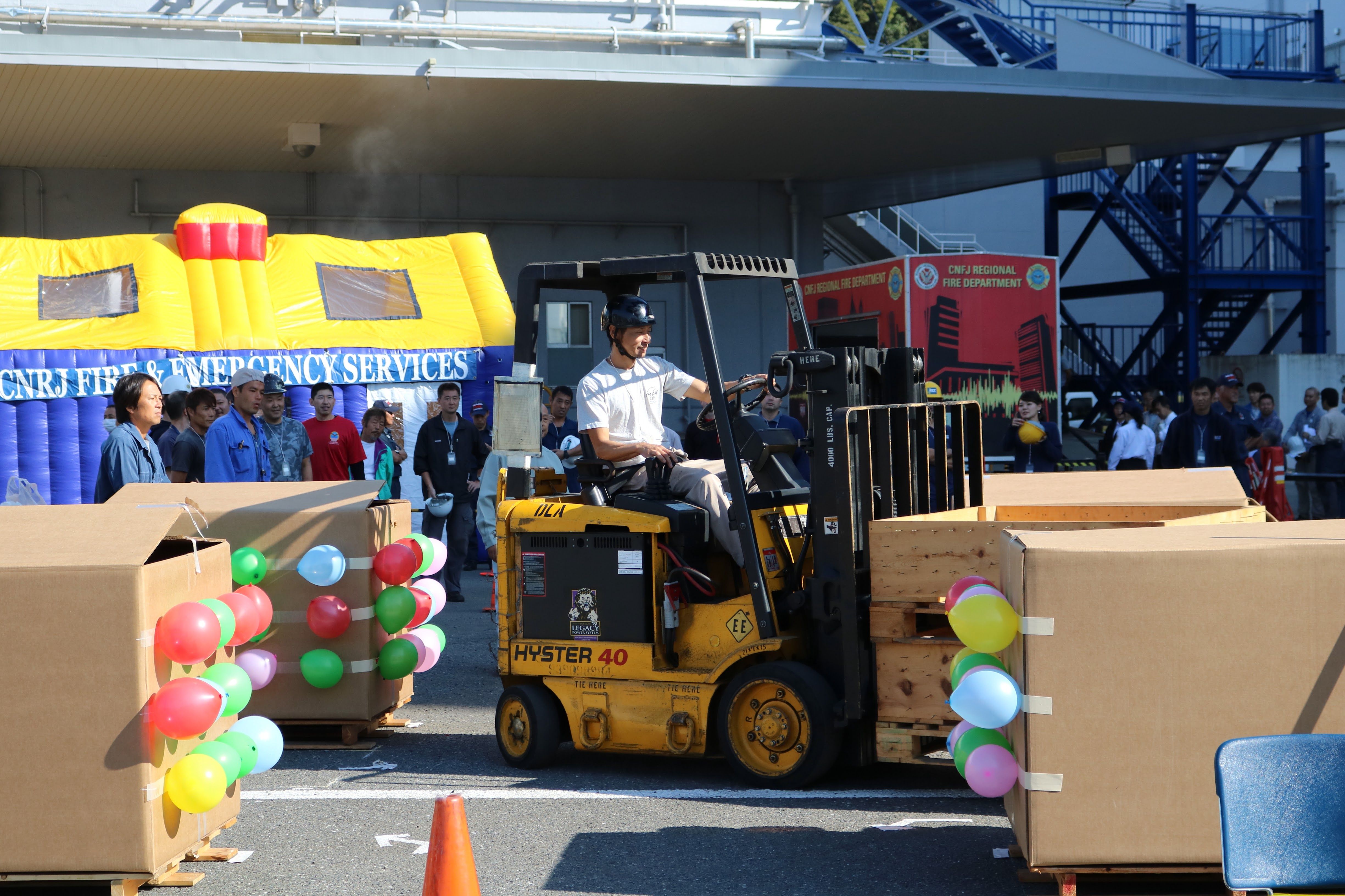 yokosuka distribution center hosts annual forklift rodeo and yokosuka distribution center hosts annual forklift rodeo and safety rally