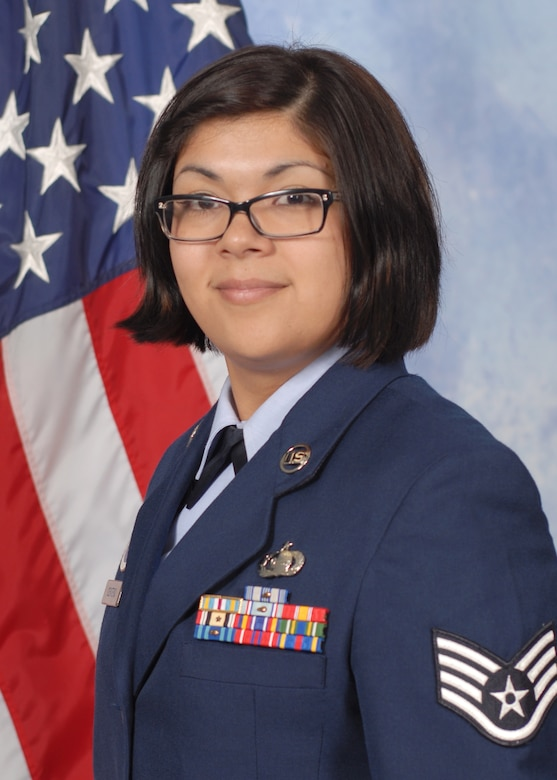 U.S. Air Force Staff Sgt. Sandra N. Centeno, 316th Training Squadron instructor, poses for a photo. (Courtesy photo)