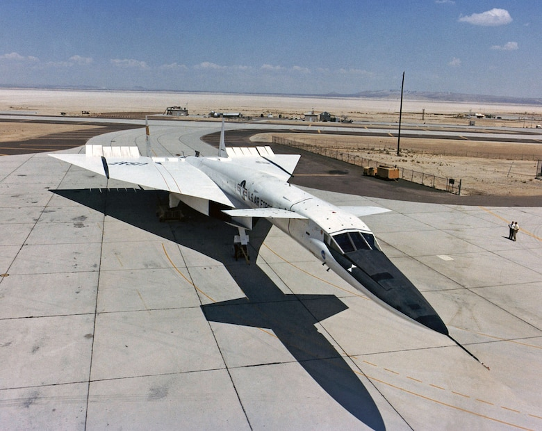 The Valkyrie's airframe was built with advanced techniques and materials to reduce weight and to withstand high temperatures from aerodynamic heating at high speed. (U.S. Air Force photo)