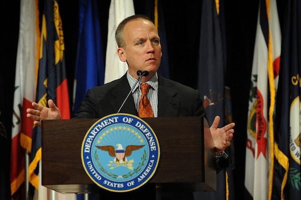 Acting Undersecretary of Defense for Personnel and Readiness Brad Carson delivers remarks at the 35th Annual Department of Defense Disability Awards ceremony at the Pentagon, Oct. 29, 2015. DoD photo