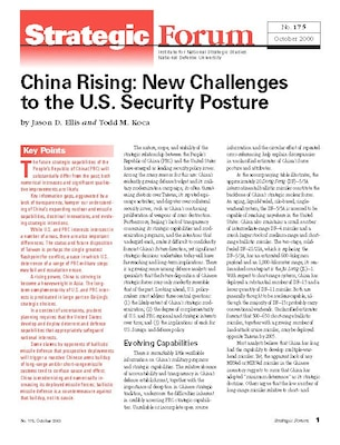 China Rising: new Challenges to the U.S. Security Posture