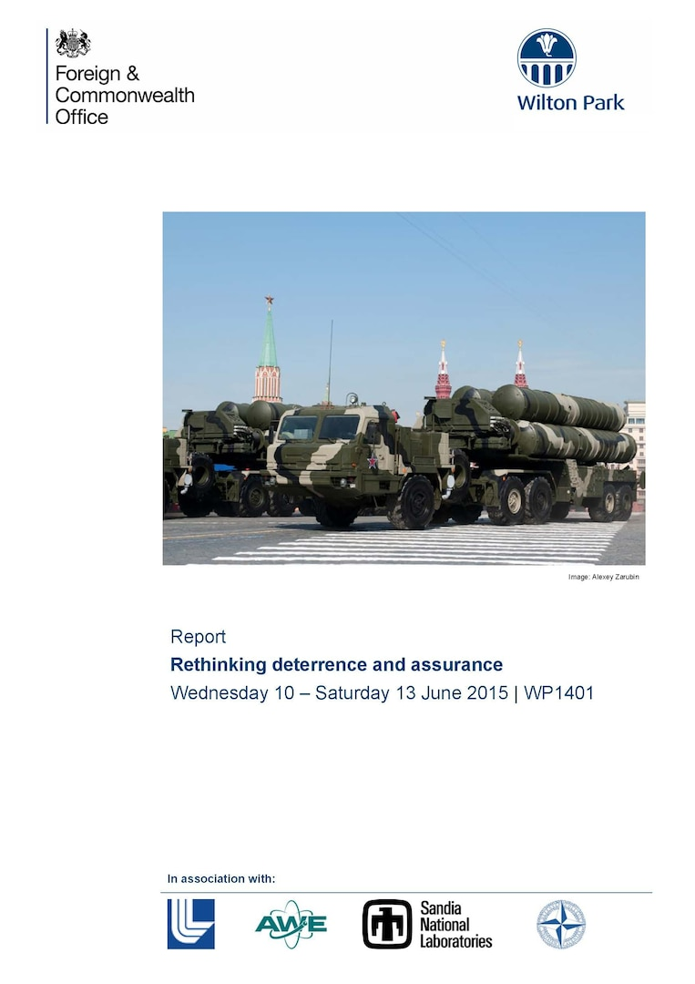 Rethinking Deterrence and Assurance