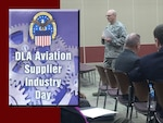 Defense Logistics Agency Aviation's Commander Air Force Brig. Gen. Allan Day hosts Supplier Industry Day Oct. 27, 2015 at the Frank B. Lotts Conference Center in Richmond, Virginia. DLA senior leaders and industry supply partners attended the event to share ideas on how to do better business with DLA Aviation.