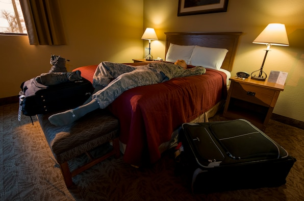 The Sagebrush Inn at Mountain Home Air Force Base, Idaho, is ranked third in Air Force lodging worldwide as of Nov. 2, 2015. Customers cited clean, spacious rooms and a friendly staff. (U.S. Air Force photo by Airman Chester Mientkiewicz/RELEASED)