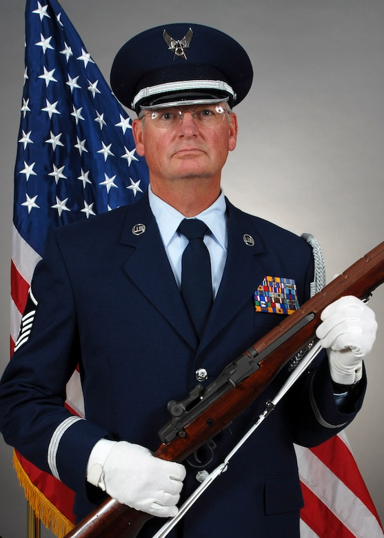 Retired Master Sgt. Earl Nilsen served as a member of the 120th Airlift Wing's Honor Guard. (U.S. Air National Guard photo by Senior Master Sgt. Eric Peterson/Released)