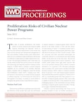 Proliferation Risks of Civilian Nuclear Power Programs