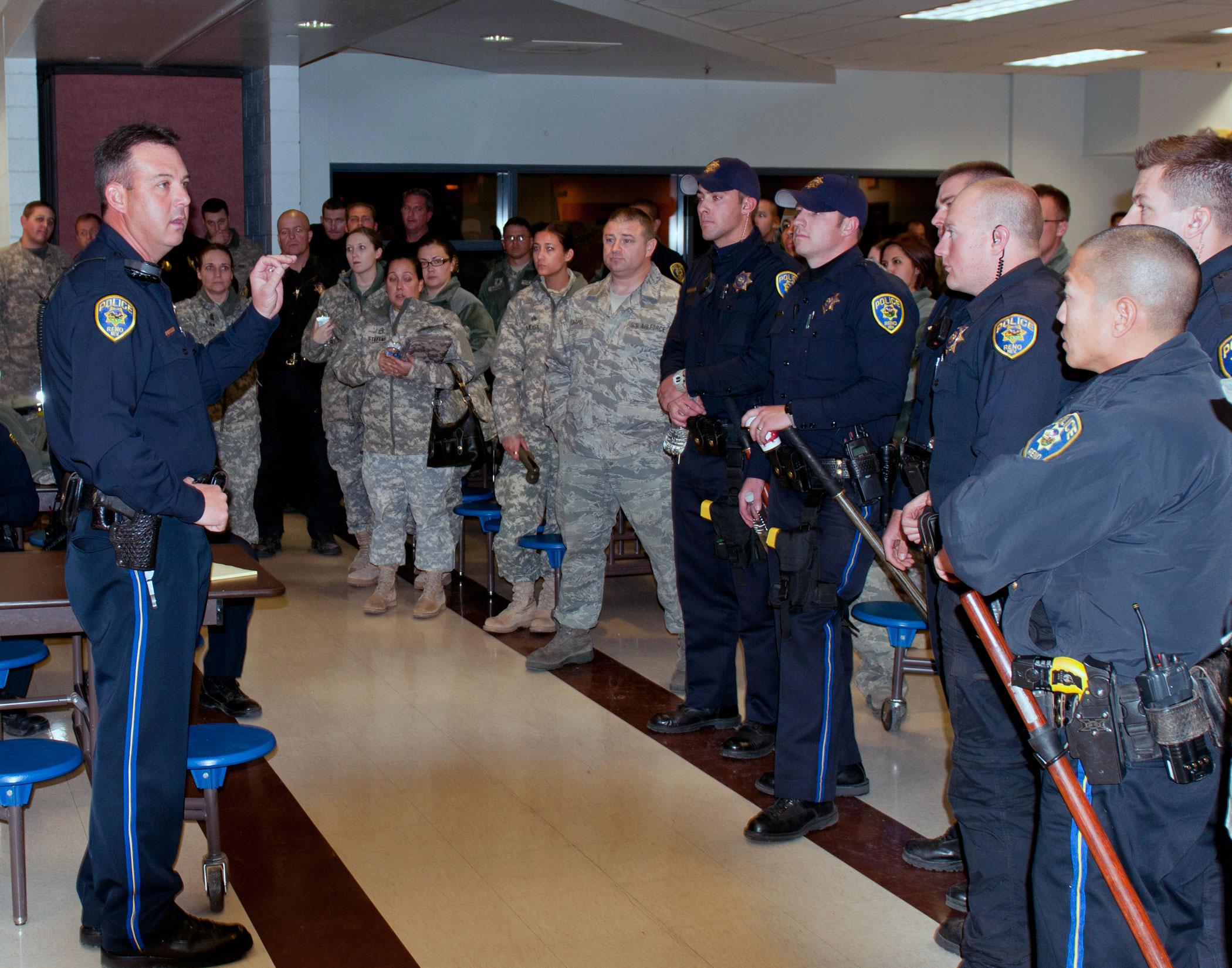 Nevada Guard Helps Reno Police In Fire Stricken