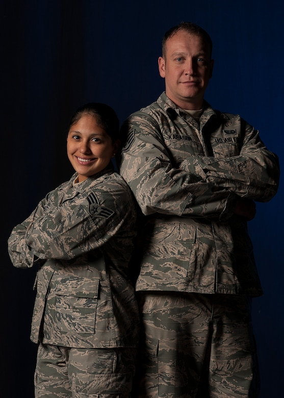 Senior Airman Sarah Cabrera, a 614th Air and Space Operations Center administrator, and Staff Sgt. Bryan Karason, the 30th Force Support Squadron NCO in charge of assignments, recently helped rescue a family from a car wreck Oct. 25, 2015, in Goleta, Calif. After assessing the situation, the Airmen instinctively sprung to action using basic self-aid and buddy care techniques. (U.S. Air Force photo/Senior Airman Kyla Gifford)
