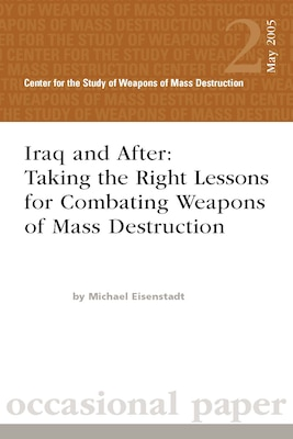 Iraq and After: Taking the Right Lessons for Combating Weapons of Mass Destruction
