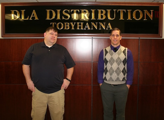 Brian Farnsworth and Michael Verton, quality assurance evaluators at Defense Logistics Agency Distribution Tobyhanna, Pa., have received the Global Distribution Excellence: Quarterly Contract Quality Assurance Program Commendable Service award.