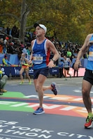 "On November 1, 2015, Joe Chamberlain finished the New York City Marathon with a time of 3:10:20. His advice to himself upon leaving Omaha was simply ""finish strong"". As Chamberlain reached the south end of Central Park, the noise went from deafening silence to a deafening roar from the crowd. ""I couldn't believe I was there,"" he said. ""Their cheers echoed off the buildings. They really did carry runners to the finish, I wanted to keep running as soon as I saw the buildings and heard them. Usually, the last 3 miles are tough but those 3 miles were fantastic and I've won races."""