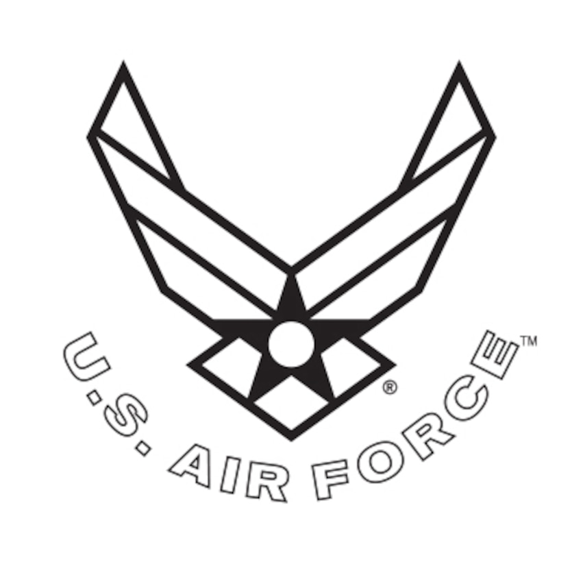 """The Air Force Symbol is a registered trademark. Use of this logo by any non-Federal entity must receive permission from the Air Force Branding and Trademark Licensing Office at licensing@us.af.mil. Non-Federal entities wishing to use the Air Force Symbol should reference the DoD Guide on the use of Government marks. The link to the guide can be found at http://www.defense.gov/Media/Trademarks. Those with a valid CAC may download high-resolution versions of the Symbol from the Air Force Portal. The link to the graphics is located under the """"Library and Resources"""" tab. Guidance on the proper use and display of the Symbol can be found in AFI35-114."""