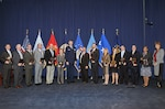 Defense Logistics Agency senior leaders and business process cycle team leads pose for a group photo at the Audit Readiness Assertion Ceremony Oct. 30 at the McNamara Headquarters Complex.
