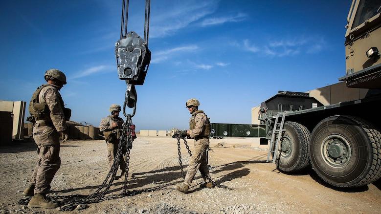 U.S. Marine engineers improve security at Camp Manion ...