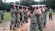 09 Nov 2015 - WTBN Marines celebrating the Marine Corps 240th birthday with PT log lifts.