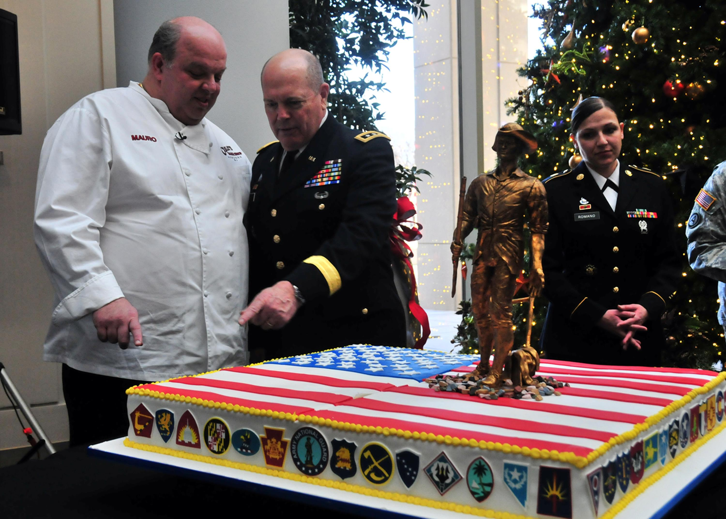 Peachy Cake Boss Helps National Guard Celebrate 375 Years Donates Iconic Funny Birthday Cards Online Overcheapnameinfo