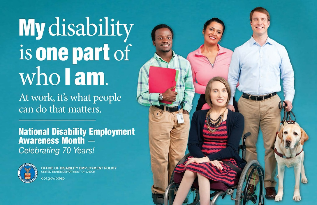 The 70-year anniversary of National Disability Employment Awareness Month is celebrated during the month of October this year. The goal of this initiative is to celebrate individuals with disabilities strengthening the workforce and to bring awareness and education concerning the issue.