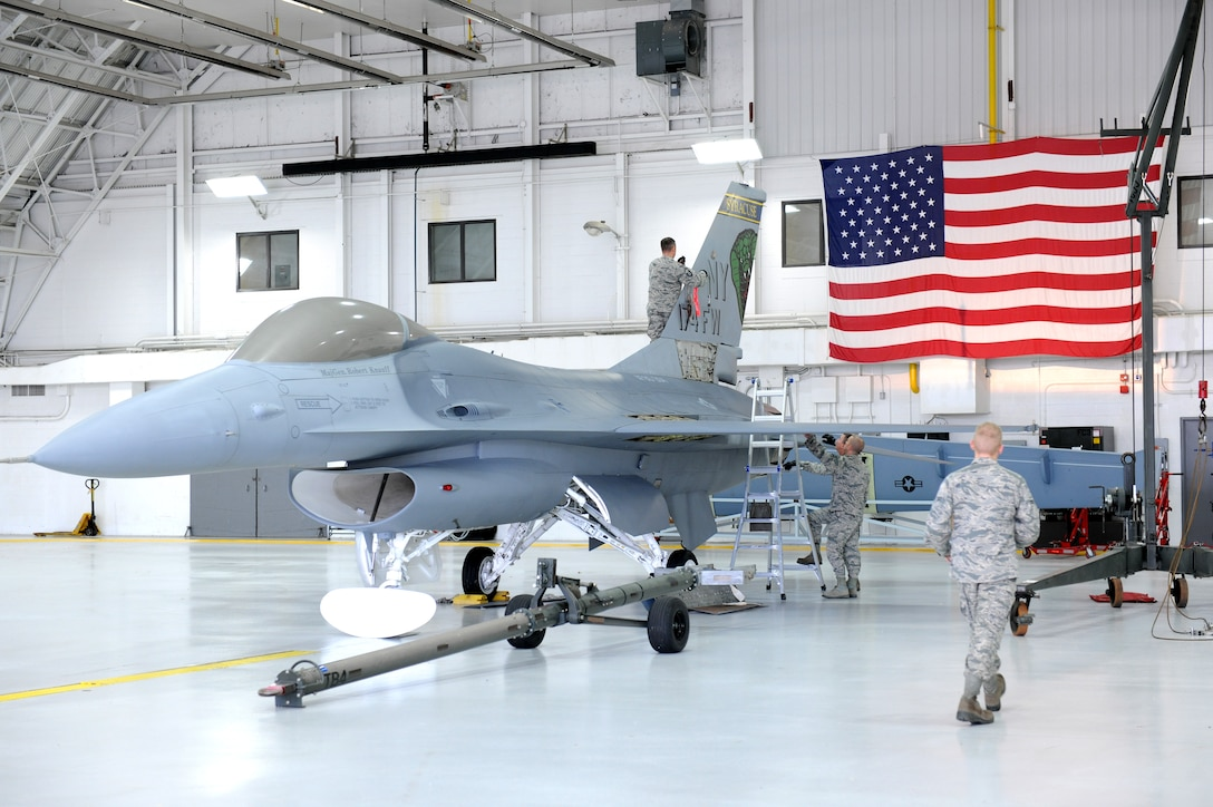 F-16A aircraft 80-0504 tail number was disassembled at Hancock Field Air National Guard Base in Syracuse, November 5. (U.S. Air National Guard photo by Tech. Sgt. Jeremy Call/Released)