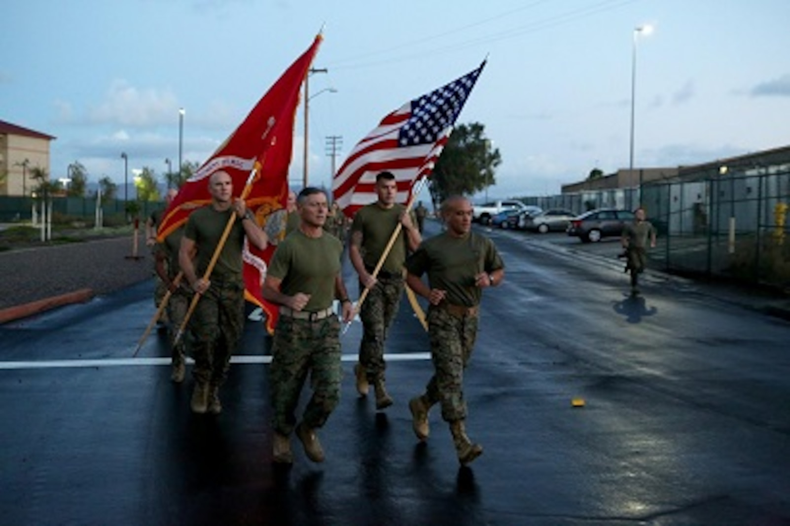 Hey mainside!   If you heard what sounded like stampede of motivation this morning, worry not. It was just headquarters regiment celebrating the Marine Corps Birthday with a little moto run.