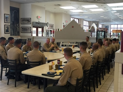 Camp San Mateo - A group of selected Marines of the Fighting Fifth Marine Regiment participated in the bi-monthly 'Committed and Engaged Leaders' discussion with the Commanding Officer and Sergeant Major of the Regiment.