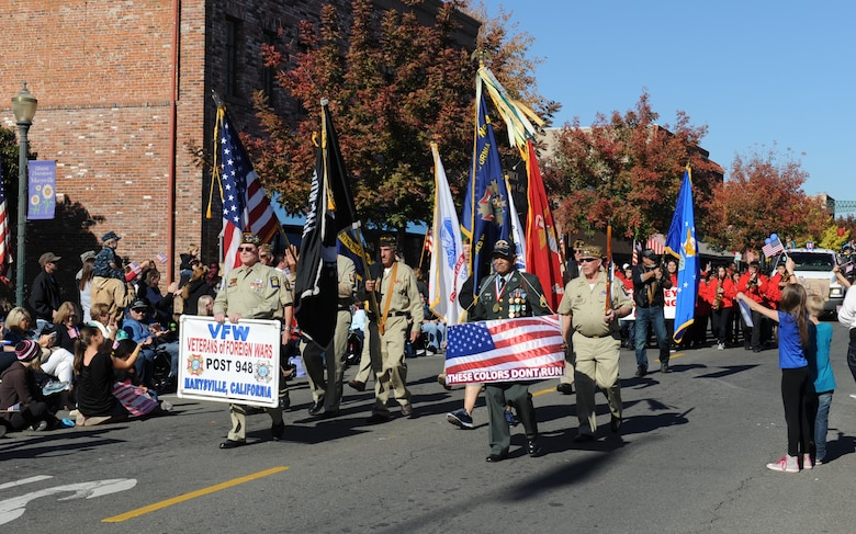 Yuba/Sutter Veterans Day Parade in Marysville, California, Nov. 11, 2015. Veterans Day is celebrated throughout the U.S. to honor those who have served and are serving in the Armed Forces. (U.S. Air Force photo by Staff Sgt. Robert M. Trujillo)