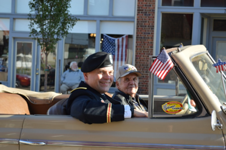 The Veterans Committee for Civic Improvement of Huntington, an organization of 14 veterans organization in the Kentucky, Ohio and West Virginia Tri-State area presented its annual Veterans Day Parade and Ceremony. Colonel Secrist was both the Parade Marshall and the featured speaker