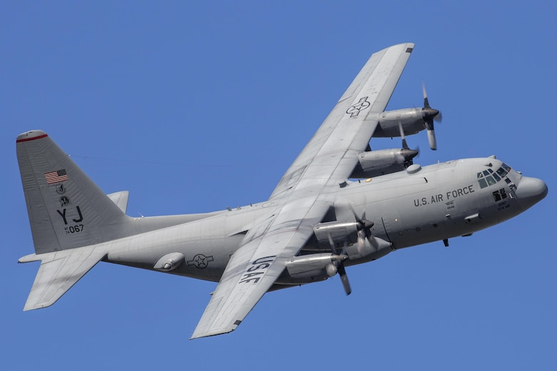 A C-130 Hercules with the 36th Airlift Squadron flies back to Yokota Air Base, Japan, Nov. 4, 2015, during exercise Vigilant Ace 16. Yokota participated in a large-scale exercise designed to enhance the interoperability of U.S. and South Korean air forces. During the deployment phase of the exercise, the 374th Airlift Wing conducted 42 missions, generating 87 sorties totaling over 250 flying hours, to move more than 400,000 pounds and more than 650 passengers. (U.S. Air Force photo/Osakabe Yasuo)