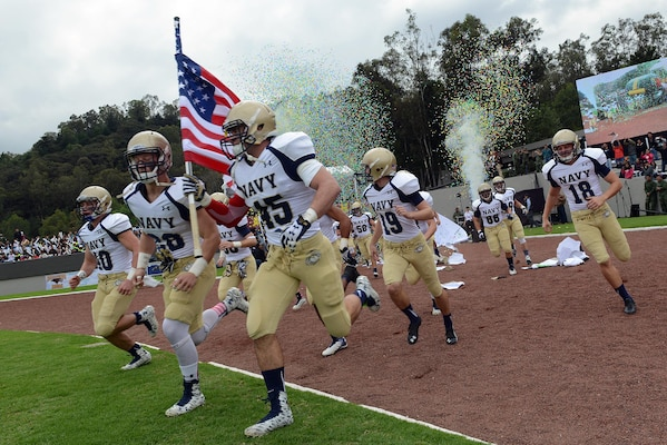 Naval Academy, Mexican Teams Play Goodwill Football Game ...