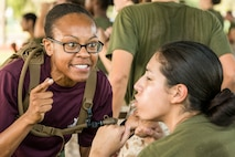 "Sgt. Yonique R. Cousins currently serves as a Marine Corps drill instructor with Oscar Company, 4th Recruit Training Battalion, at Marine Corps Recruit Depot Parris Island, S.C. Cousins joined the Marine Corps in Aug. 2008 and became a drill instructor in Dec. 2014. ""I strive hard for everything I do,"" said Cousins, a 25-year-old native of McDonough, Ga. ""No matter what obstacle may come my way, I will overcome it. That is why I'm here."" About 600 Marine Corps drill instructors shape the approximately 20,000 recruits who come to Parris Island annually into basic United States Marines. Parris Island is home to entry-level enlisted training for 50 percent of males and 100 percent of females in the Marine Corps. (Photo by Sgt. Jennifer Schubert)"