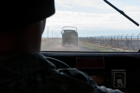 Senior Airman Ryan Trumble, 366th Security Forces Squadron response force leader, drives a humvee during Gunfighter Flag 16-1 Nov. 5, 2015, at Mountain Home Air Force Base, Idaho. The U.S. military has used the humvee since 1984 when Army officials decided they needed more strength, speed and reliability. (U.S. Air Force photo by Airman Chester Mientkiewicz)
