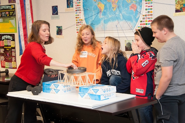 Volunteers with the U.S. Army Corps of Engineers, Transatlantic Division and the Middle East District visited with students at Winchester's STARBASE Academy Nov. 10.