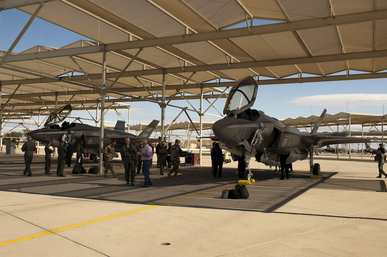 The first two Norwegian F-35s arrived at Luke Air Force Base, Arizona, Nov. 10, 2015. Shortly after, a Norwegian pilot flew the F-35 Lightning II for the first time, in conjunction with the Royal Norwegian air force's birthday.