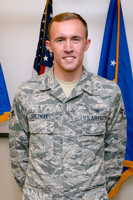Airman 1st Class Xavier Brezniak is assigned to the 50th Operations Support Squadron at Schriever Air Force Base, Colorado. (U.S. Air Force photo)