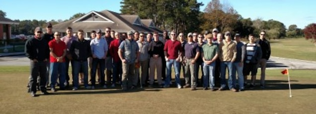 20 Nov 2015 - WTBN Marines, sailors, and civilians enjoy a battalion golf outing.  LCpl Griffin, Headquarters Company Clerk, planned, coordinated, and, with the assistance of the WTBN Operations Officer, oversaw the entire event.  Many of the participants had never played golf before, but everyone enjoyed a day on the links and the friendly spirit of competition.