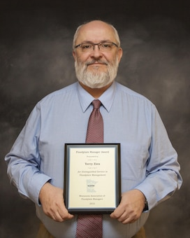 Terry Zien, St. Paul District hydraulic engineer, received the annual Floodplain Manager Award