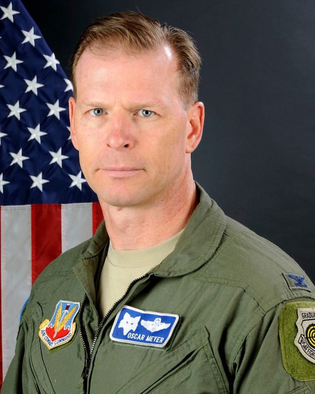 U.S. Air Force Col. David Meyer, 169th Operations Group commander at McEntire Joint National Guard Base, South Carolina Air National Guard, poses for his portrait June 11, 2013. (U.S. Air National Guard photo by Tech. Sgt. Caycee Watson/Released)