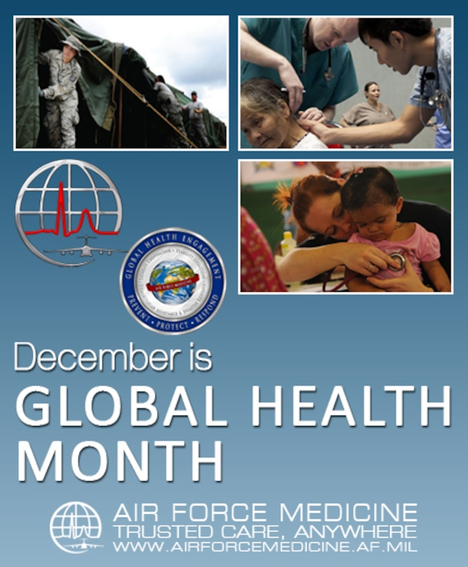 Global Health Month 2015 graphic timeline (Air Force Graphic)