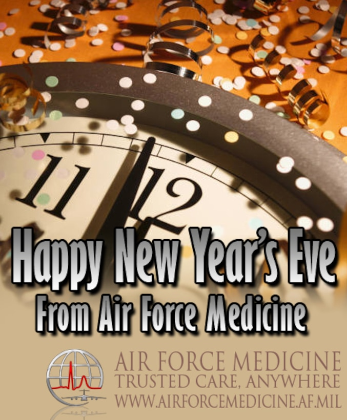 Happy New Year's Eve 2015 graphic (Air Force Graphic)