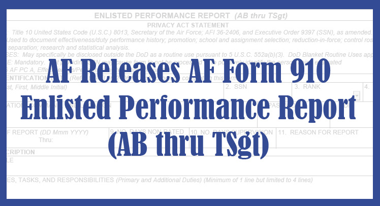af releases form 910, implements forced distribution > air force's