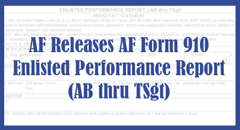 AF releases Form 910, implements forced distribution > Air Force's ...
