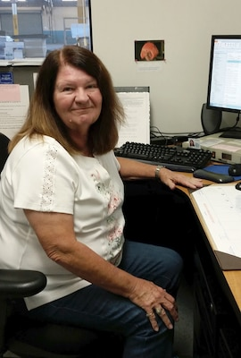 Betty Brock, DLA Distribution, Barstow, California.