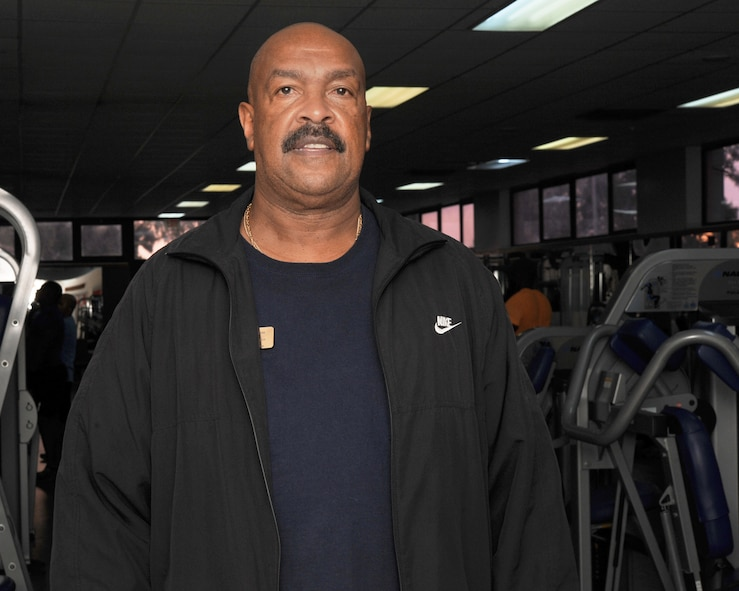 Lewis Hampton, 39th Air Base Wing fitness Center manager, oversees and ensures the fitness center is maintained and in good condition for 39th ABW personnel. The fitness center is a key facility for service members to use to stay healthy and fit to fight. (U.S. Air Force photo by Airman 1st Class Daniel Lile/Released)