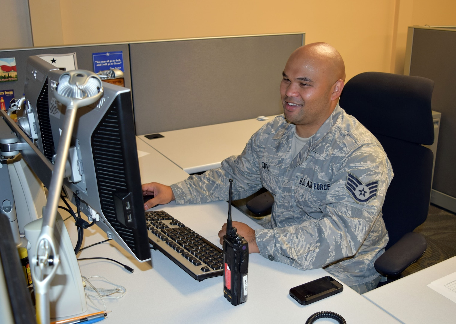 Staff Sgt. Richard Slifer (right), 433rd Aircraft Maintenance Squadron electrical environmental craftsman, runs through a checklist with Staff Sgt. Eldry Nunez, 433rd AMXS aircraft electrician, on the Joint Base San Antonio-Lackland, Texas, flightline Sept. 13, 2015. Slifer was recently selected for promotion under the Air Force Reserve Command program. He officially put on his new rank Sept. 8, 2015. (U.S. Air Force photos by Tech. Sgt. Lindsey Maurice/released)