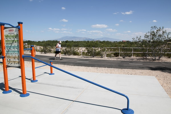 "The Kino Environmental Restoration Project features a 2.2-mile paved path around the basin for walking, jogging, bicycling, and wildlife viewing. KERP and the Kino Sports Complex are also on ""The Loop"" with more than 100 miles of multi-use paths around Tucson."