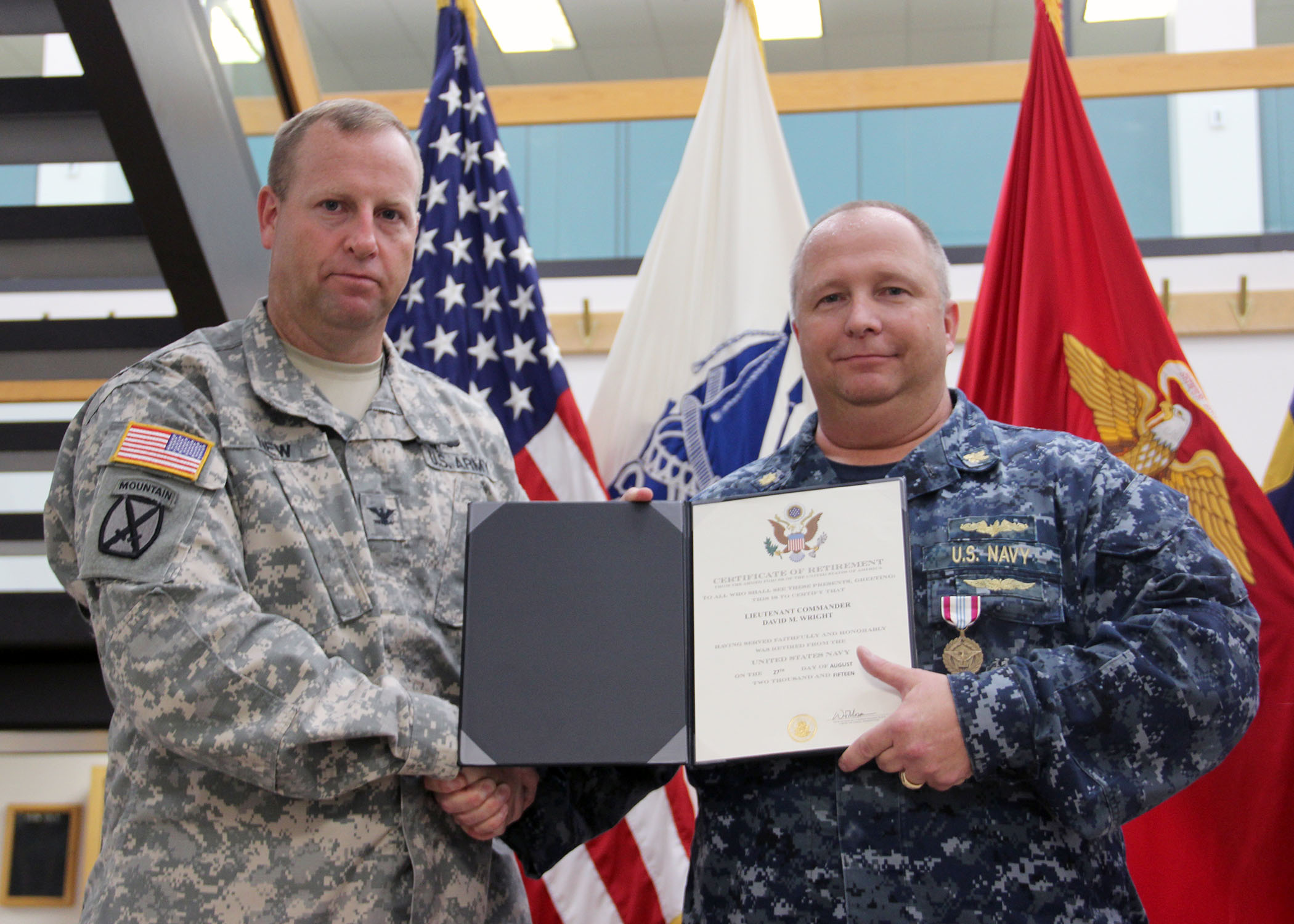 Susquehanna's Wright retires from Navy service > Defense