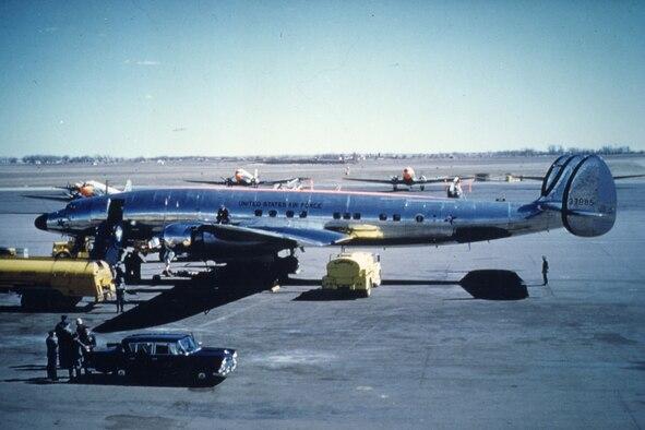 Columbine III being prepared for a flight. (U.S. Air Force photo)