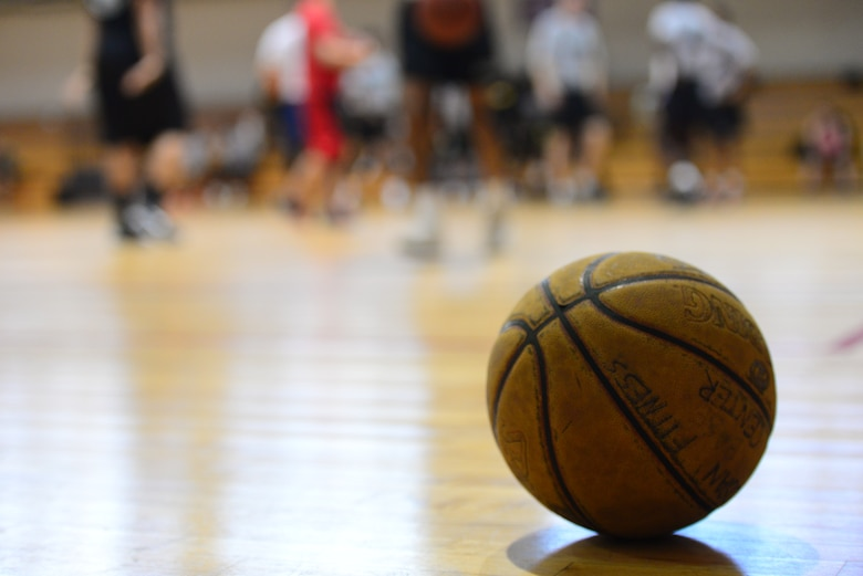 In a rare moment of rest, a basketball awaits returning to play during the 3-on-3 basketball challenge at Osan Air Base, Republic of Korea, Sept. 29, 2015. The challenge was just one of the events that took place during the second annual Osan Cup.